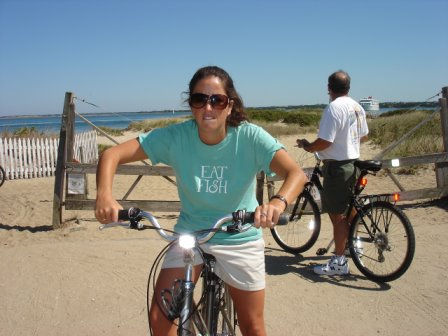 Zooming around Nantucket in my Eat Fish t-shirt... vroom vroom.