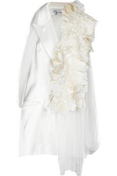 Eun Jeong silk-trimmed waistcoat.