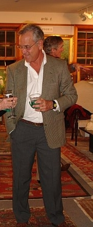 Chuck Wodehouse, always the picture of impeccable taste, in a tweed blazer.