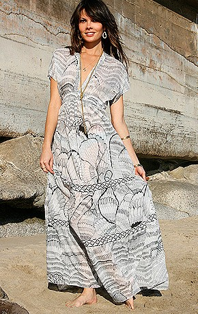 "The beach did bring it to life: DOTR ""Butterfly"" long dress."