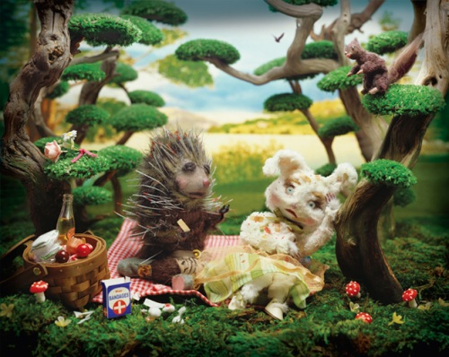 """Prickley Picnic"" diorama photo by Laura Plankser."
