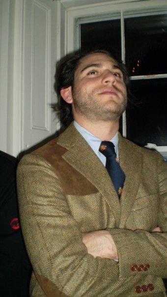 Always the gentleman: Matthew Grieco is the picture of good taste in a tweed hunting jacket.