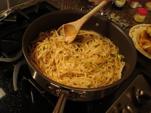 Noodle action.