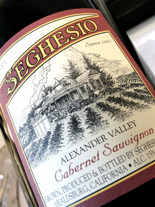 Seghesio Cabernet Label Shot
