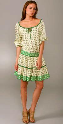 Anna Sui Foulard Daisy Border dress, $557.