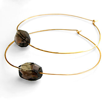 Citrine by the Stones Julia hoops with smoky topaz.