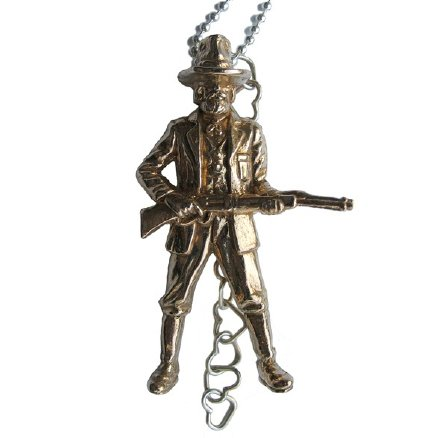 """Shot Gun Sally"" pendant, $170."