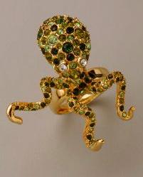 Kenneth Jay Lane Octopus ring, $132.