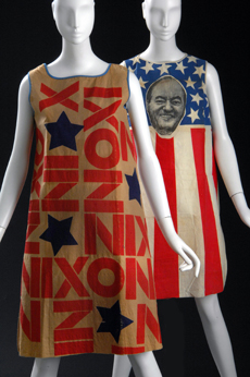 Political dresses! Nowadays, these have been replaced with snarky t-shirts.