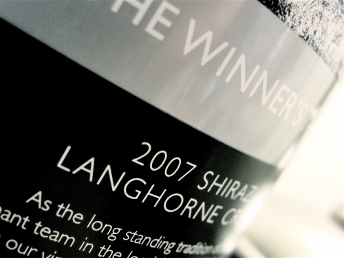 The Winner's Tank Shiraz