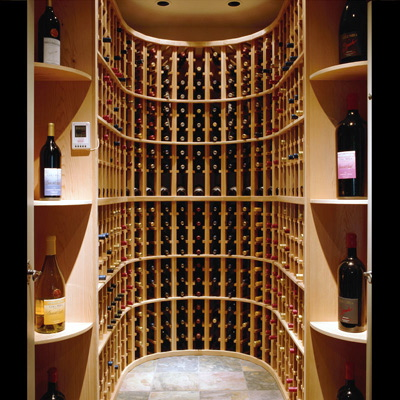 Basic  closet -sized wine room. Courtesy of HomePortfolio. Small ... & Wine Cellar Weekly: Small Spaces   Corks and Caftans