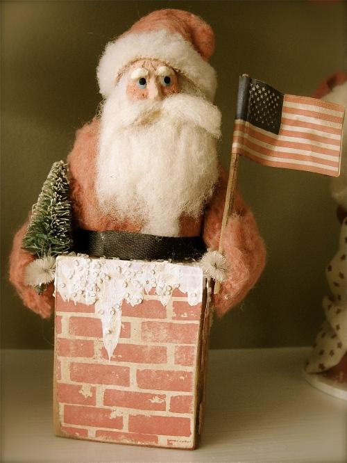 vintage Santa Claus figurine