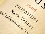 2006 Cuvaison Zinfandel Bald Mountain Vineyard Napa Valley Robert Burden