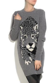 Stella McCartney wool-blend Intarsia panther sweater, $1,145.