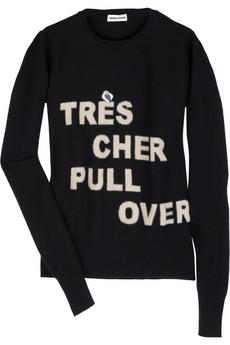 Sonia Rykiel wool Intarsia sweater, $805.