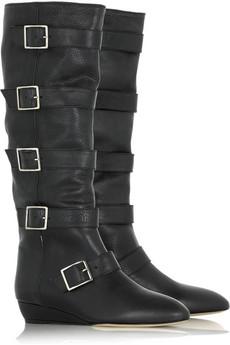 Loeffler Randall buckled flat boots