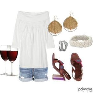 wine wednesday polyvore