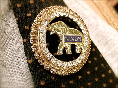 Nixon political pin