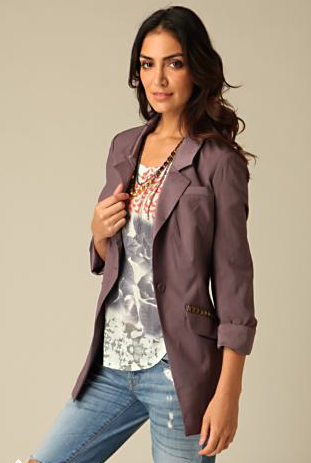 Free People studded blazer