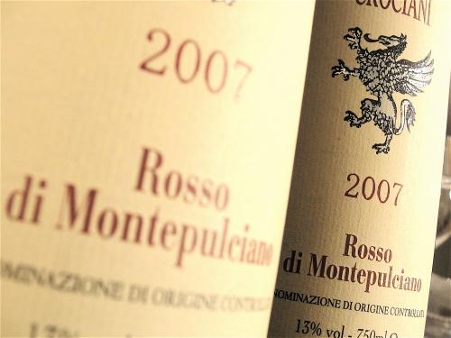 2007 Crociani Rosso di Montepulciano double label