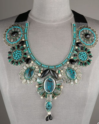 Ranjana Khan turquoise bib necklace