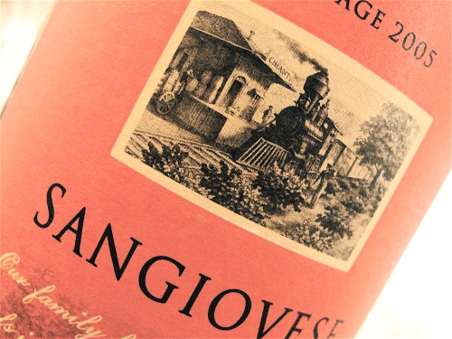 Seghesio Sangiovese Label
